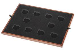 Einlage für 28 mm x 10 gekapselte Goldmünzen