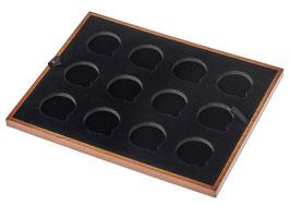 Einlage für 43 mm x 12 gekapselte Gold- und Silbermünzen
