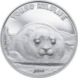 Young Wildlife Series - Robbe - 1 Oz Silber PP / Proof - Cook Islands 5 $