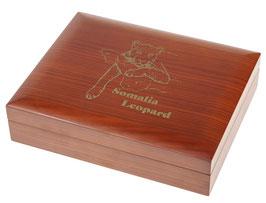 Somalia Leopard Münzbox für Gold- und Silbermünzen (ohne Einlage)