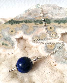 Lapis-lazuli, pendule boule