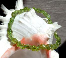 Péridot, bracelet élastique perles