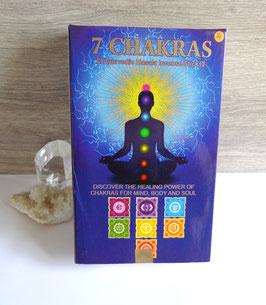 Coffret 7 chakras (Ppure), encens en bâtonnets