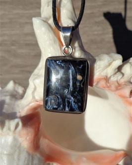 Pietersite, pendentif renctangulaire
