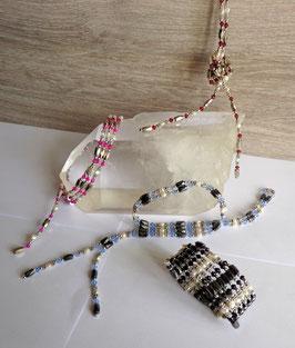 Perles d'eau douce, collier magnétique