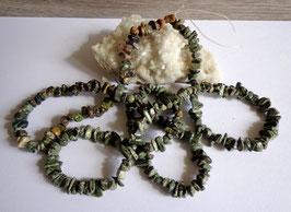 Serpentine, perles baroques