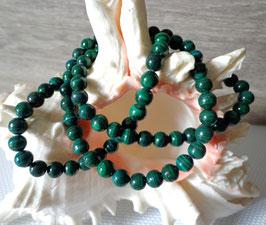 Malachite, bracelets élastiques perles 6 mm