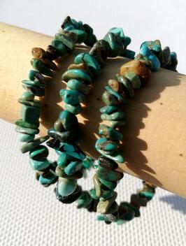 Turquoise naturelle Tibet A+, bracelets élastiques