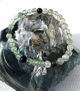 Fluorine, bracelet élastique perles 6 mm