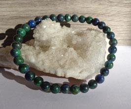 Azurite-malachite, bracelet élastique
