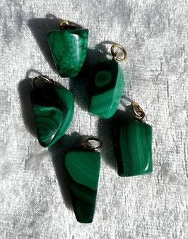 Malchite, pendentifs forme libre