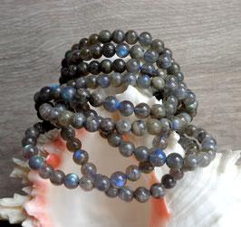 Labradorite extra, bracelet élastique perles rondes