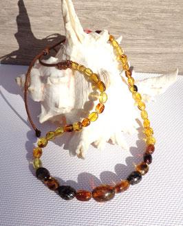 Ambre Mexique, collier perles ovales