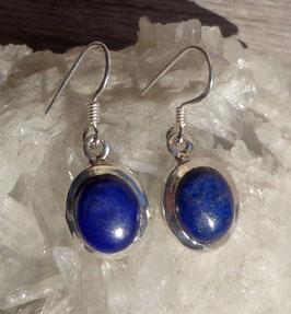 Lapis-lazuli, boucles cerclées