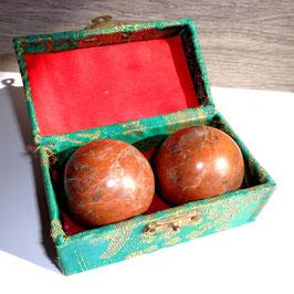 Boules chinoises Qi gong en pierre