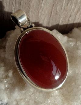 Cornaline, pendentif ovale