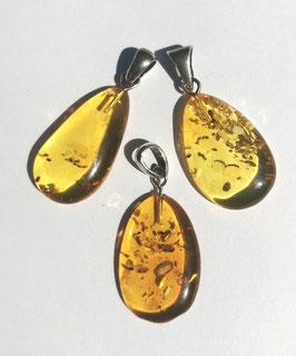 Ambre Baltique (transparent), pendentifs