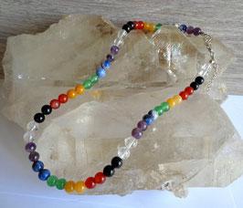 Pierres chakras, collier perles