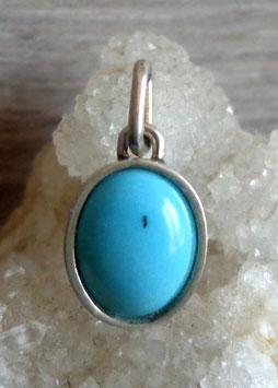 Turquoise, pendentif cerclé (petit)
