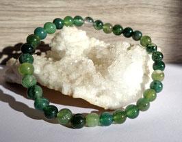 Agate mousse, bracelet élastique