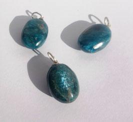 Apatite bleue, pendentifs