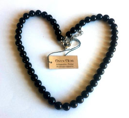 Onyx noir, perles rondes
