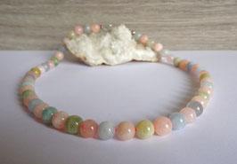 Béryls, collier perles
