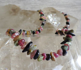 Tourmaline multicolore, collier baroque