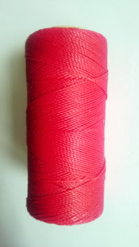 Fil polyester ciré 0.07 mm rouge