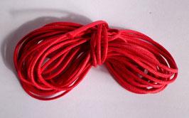 Cordon coton ciré 1 mm rouge (au mètre)