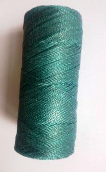 Fil polyester ciré 0.07 mm bleu paon