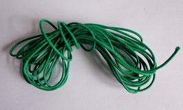 Cordon coton ciré 1 mm vert (au mètre)