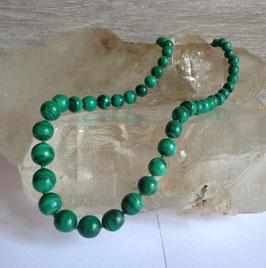 Malachite, perles en dégradé