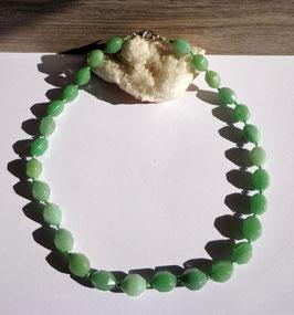 Aventurine, collier perles facettées