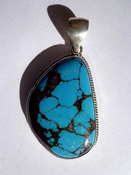 Turquoise, pendentif argent 925