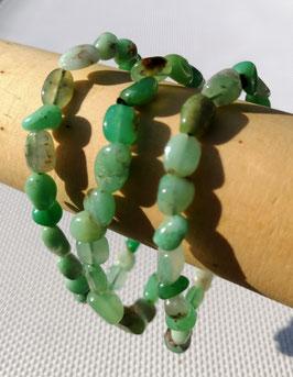 Chrysoprase A+, bracelets élastiques