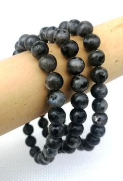 Larkivite, bracelets élastiques perles 8 mm