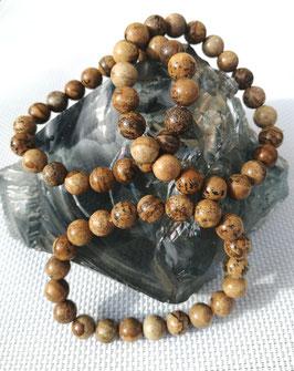 Jaspe paysage, bracelets élastiques