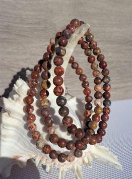 Jaspe léopard, bracelets élastiques perles 6 mm