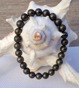 Pyrite, bracelet élastique homme