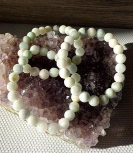 Jade clair, bracelets élastiques
