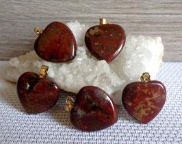 Agate indienne, pendentifs coeurs