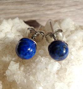 Lapis-lazuli, puces d'oreilles