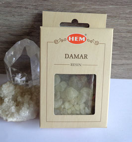 Damar (Hem), encens en grains