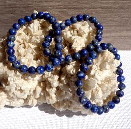 Lapis-lazuli, bracelet perles 8 mm