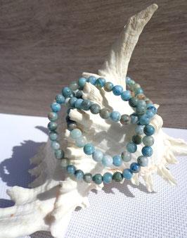 Hémimorphite, bracelets élastiques