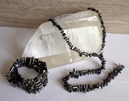 Hématite, collier magnétique