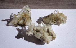 Cristal de roche (Isère, France), agrégats petits