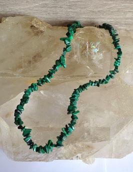Malachite, collier baroque