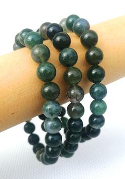 Agate mousse, bracelets élastiques 8 mm